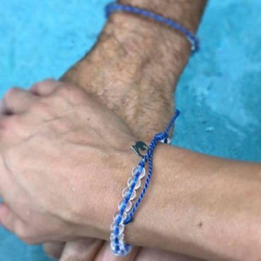 4 Ocean Bracelets - Made from Recycled Ocean Trash. By purchasing this bracelet, you will help remove one pound of trash from the ocean. Join the Movement Today.