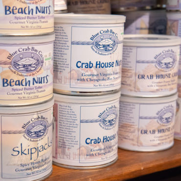 Founded in 1985 by Pam Barefoot and purchased in 2016 by Elizabeth Lankford, Blue Crab Bay Co. offers coastal-themed specialty foods. Best sellers include Virginia peanut snacks, Bloody Mary mixer, and seafood seasonings.
