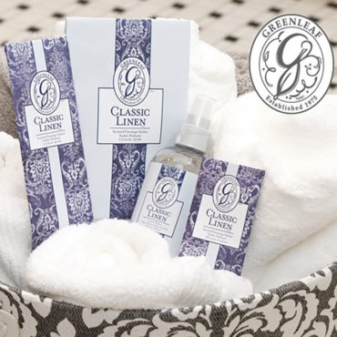 Greenleaf – Classic Linen - Fresh fragrance of air and clean water, wrapped with sweet floral and balsamic notes.