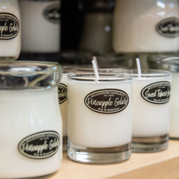 The Milkhouse blend of waxes is simple: pure beeswax and natural soy wax from soybeans grown in America's Midwest. No artificial dyes are added and there is no lead in the wicks.