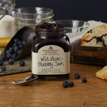 Just sweet, intensely flavorful wild Maine blueberries, the right amount of sugar and a splash of lemon is what is inside Stonewall Kitchen's top selling Wild Maine Blueberry Jam. Bursting with tiny, hand-raked Maine blueberries to enhance your favorite morning bread. Perfect to spread on pancakes, enjoy an extra special PB&J or surprise someone with breakfast in bed!