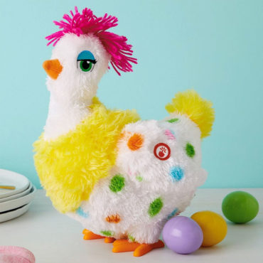 Sassy Squawkin' Egg Droppin' Hen Musical Stuffed Animal With Motion. Get it for $19.99 with the purchase of three Hallmark cards while supplies last.